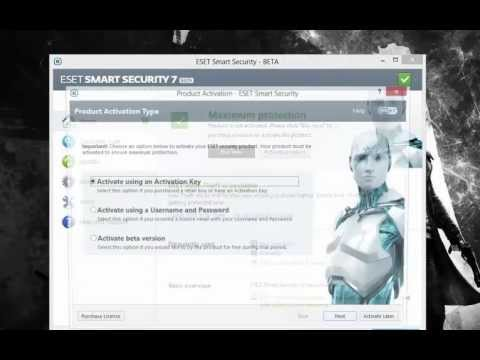 ESET SMART SECURITY 7  BETA  INSTALL +USERNAME PASSWORD+DOWNLOAD )