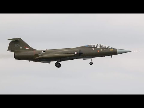 Landing CF-104D Starfighter LN-STF at Leeuwarden Air Base