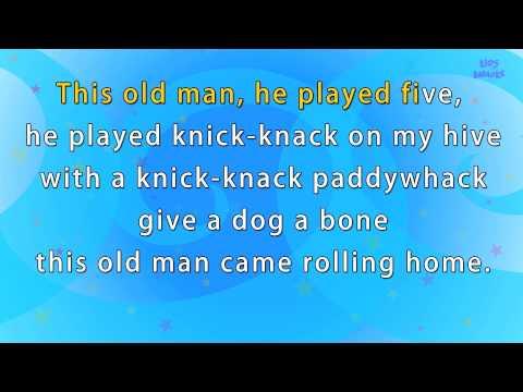 Karaoke  Rhymes - This Old Man