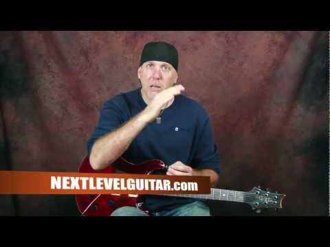 0 Learn soloing electric rock guitar lesson beginner lead techniques pt5 with bluesy jam track