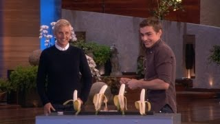 Dave Franco Slices a Banana