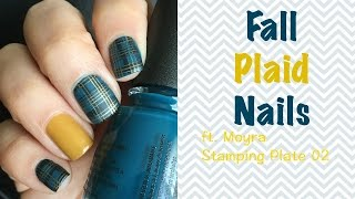 Fall Plaid Nails Ft. Moyra Stamping Plates 02 | Makeupbyive