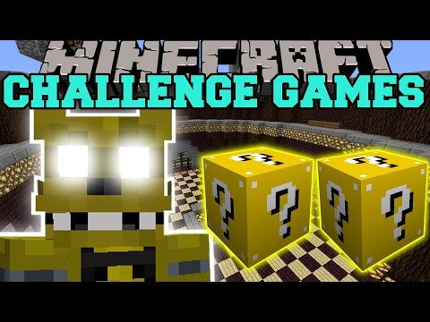 Minecraft: GOLDEN FREDDY CHALLENGE GAMES - Lucky Block Mod - Modded Mini-Game
