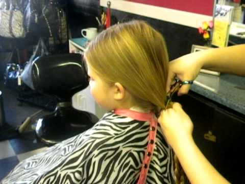 8 Year Old Girl Donates Her Hair To Wigs For Kids YouTube