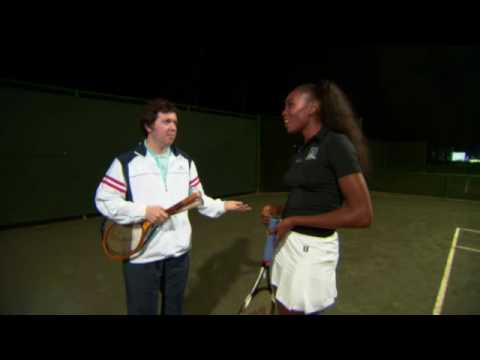 Jelena Jankovic & the Williams sisters at the Dave Hill Tennis Academy for '09 Showdown