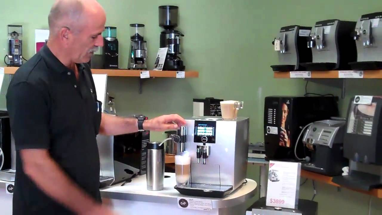 jura j9 3 one touch tft coffee machine how to make coffee youtube. Black Bedroom Furniture Sets. Home Design Ideas