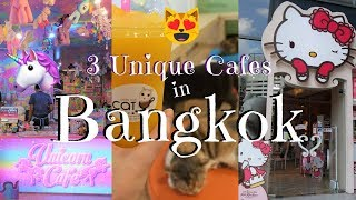 3 Unique Cafes in Bangkok | Unicorn Cafe, Cat Cafe, Hello Kitty