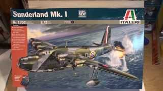1/72 ITALERI SUNDERLAND MK-1 . 9 minute UNBOXING / PREVİEW