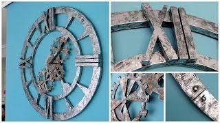Manualidades para casa: Como hacer un reloj gigante de estilo industrial por poco dinero