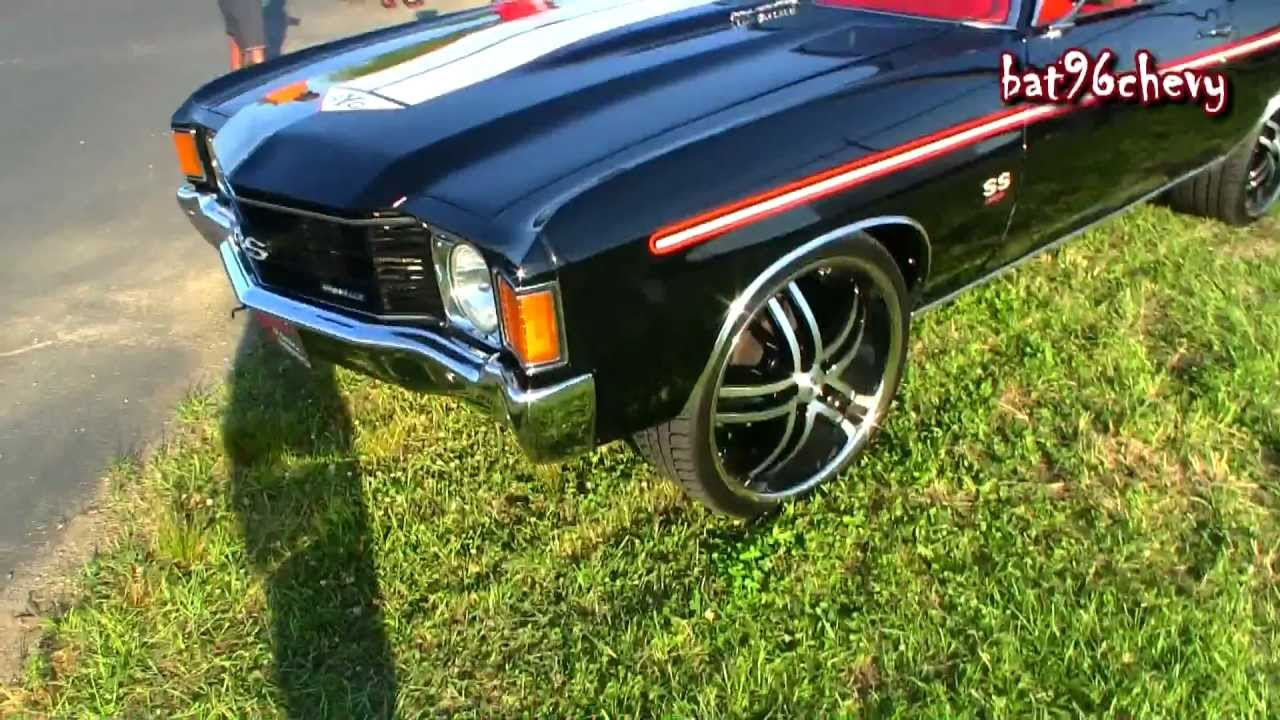 72 chevy chevelle ss yenko sc on 22 quot staggered niche rims pt 2