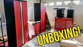 Unboxing My New Garage Tool Cabinets!