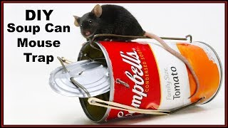 DIY Soup Can Mouse Trap - Double Catch -  Mousetrap Monday