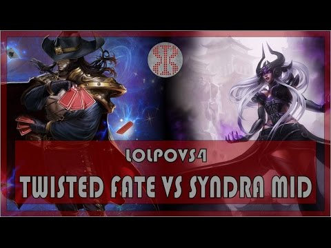 LoLPoV Twisted Fate vs Syndra Mid League of Legends