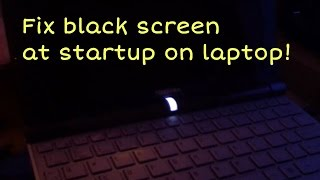 How to fix black screen at startup on laptop! 13.47 MB