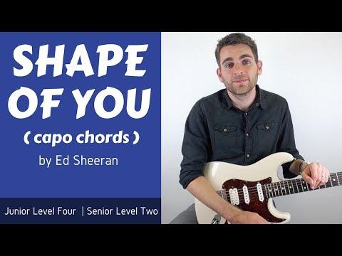 Ed Sheeran - Shape Of You Guitar Lesson (Tutorial) Open Chords With Capo