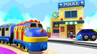 Police Thief Cartoon for Children - Police Chase - Chu Chu Cartoon - Trains for KIDS - Police Car