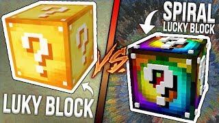LUCKY BLOCK VS LUCKY BLOCK SPIRAL - LUCKY WARS