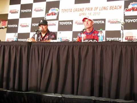 Toyota GP of Long Beach - Owner Michael Andretti Predicted Ryan Hunter-Reay Win Video