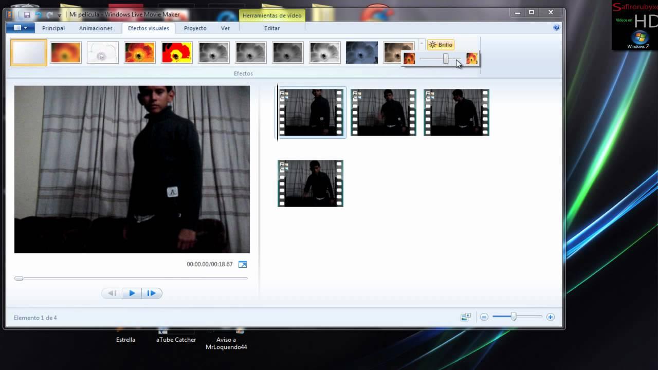Movie Maker Windows 7 Efecto Camara lenta / Dividir en Partes / Un ...