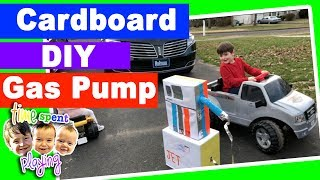 DIY Kids toy GAS PUMP Pretend Play | 2 Year Old Corrects Mommy in Real Life | Toy Tuesday Ep. 3