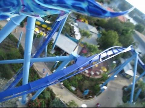 Manta Front Row on-ride POV Seaworld Orlando