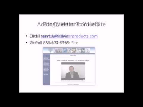 For Financial Advisors - Adding Videos To Your Site Using YouTube