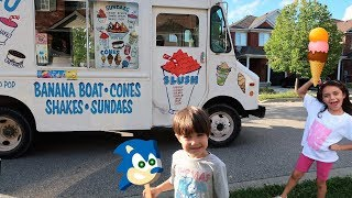 Zack Buy Ice Cream from the Ice Cream truck In Real Life! Kids Video