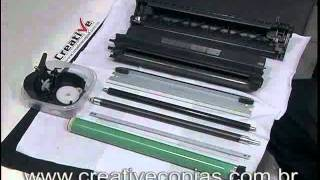 Video Aula Recarga do Toner Canon X25 ou EP26 | MF3240, MF5650, MF5770, LBP3200, LBP3210