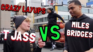 NBA Player Miles Bridges Tries Crazy Layups!