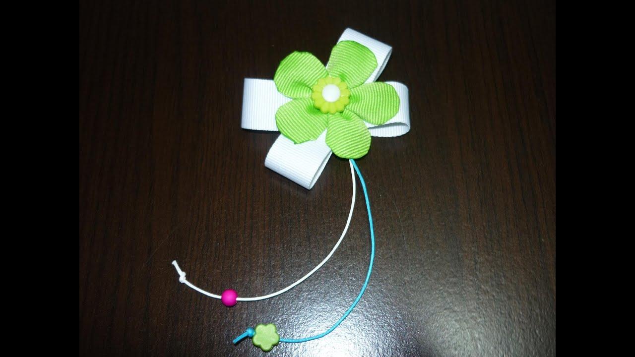 Flores en cinta o liston para decorar accesorios del cabello manualidades la hormiga - Manualidades relojes de pared ...