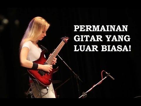 LUAR BIASA! Gadis ini bermain gitar Canon Rock!