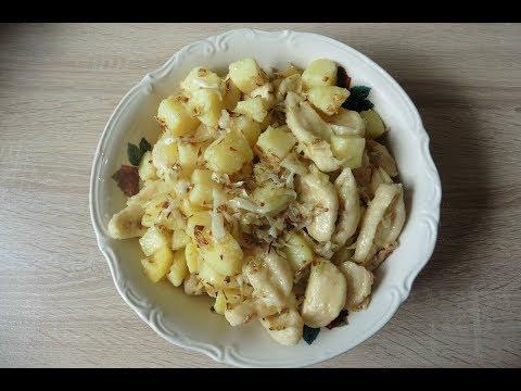 деревенские галушки с капустой
