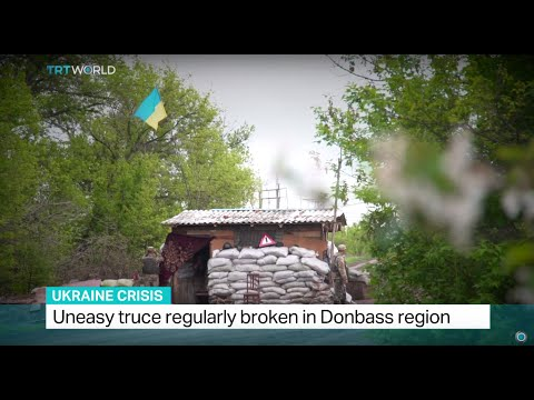 Uneasy truce regularly broken in Donbass region, Iolo Ap Dafydd reports