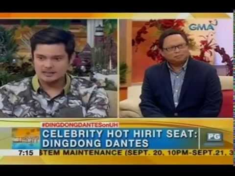 UH 09/18/14: Dingdong Dantes answers questions about Marian Rivera and ADMR