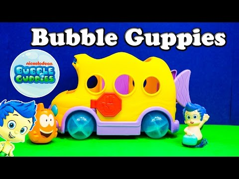 Bubble Guppies Nickelodeon Bubble Guppy Gil And Mr. Grouper Bus A Bubble Guppy Video Toy Review video