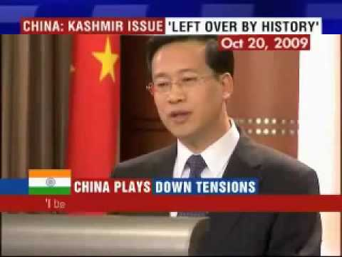 India should resolve kashmir issue with Pakistan Says china