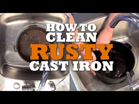 How to CLEAN And Reseason RUSTY Cast Iron