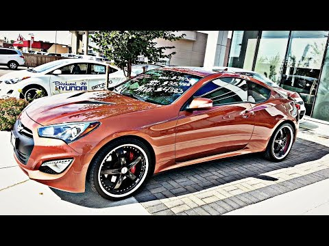 2013 Hyundai Genesis Coupe 3.8 GT Start up. Walkaround. Exhaust and Vehicle Tour