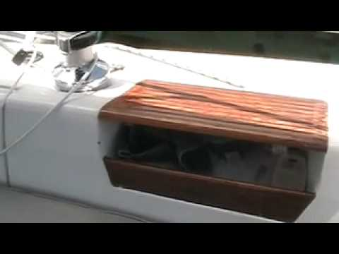Tour of a 1987 Catalina 30 tall rig wing keel sailboat in Naples, ...