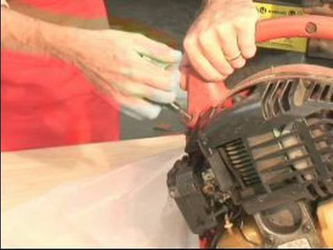 How to Use & Maintain a Leaf Blower : How to Pull Start a Leaf Blower