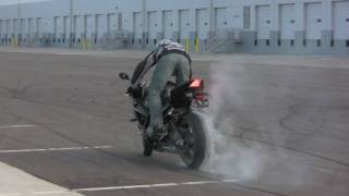 "BMW S1000RR Drifting and Stunting By Chris ""Teach"" McNeil"