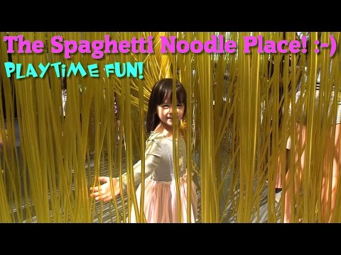 Play w/ Hulyan and Maya: The Spaghetti Pasta Noodle Playground Playtime! Diecast Toy Cars and More!