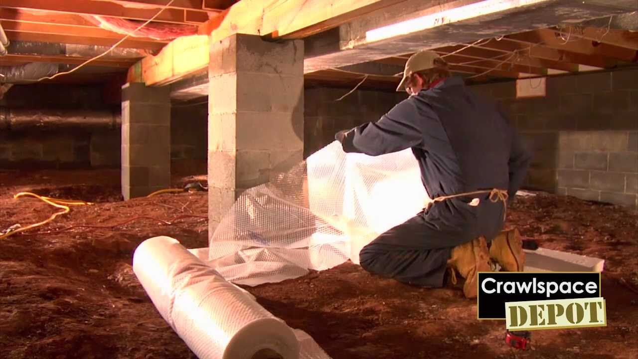 Part 4: Crawlspace Depot DIY Installation - YouTube