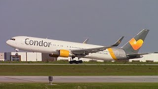 Condor Boeing 767-330ER (D-ABUD) Takeoff at Calgary Int'l Airport