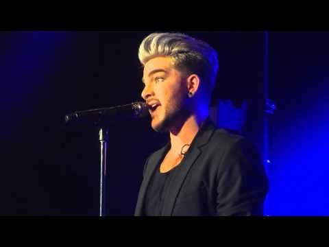 """Adam Lambert speech and """"Whataya Want From Me"""" live"""