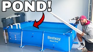 INDOOR POOL POND AQUARIUM For MONSTER FISH PETS! *DIY*