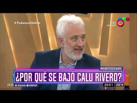 ¿Por qué se bajó Calu Rivero?