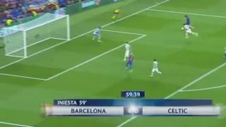 Hattrick de Lionel Messi Barcelona vs Celtic 5 0 13 09 2016