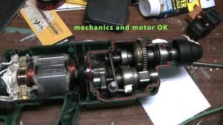 Bosch Hammer PBH 160R checking motor and interior mechanics after failure