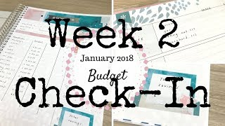 Week 2 Check In | Janauary 2018 Budget | Comparing Actual Spending to Budget |